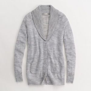 J Crew Heather Gray long cardigan wool blend small